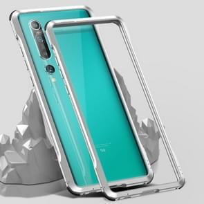 Voor Xiaomi Mi 10 5G Schokbestendig Ultra-dun metalen beschermframe(Zilver)