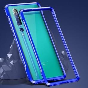 Voor Xiaomi Mi 10 5G Schokbestendig Ultra-dun metalen beschermframe(Blauw)
