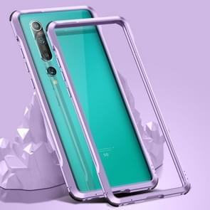 Voor Xiaomi Mi 10 5G Schokbestendig Ultra-dun metalen beschermframe(Paars)