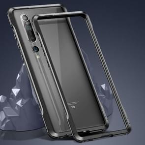 Voor Xiaomi Mi 10 Pro 5G Schokbestendig Ultra-dun metalen beschermframe(Zwart)