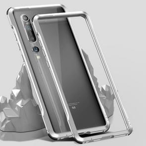 Voor Xiaomi Mi 10 Pro 5G Schokbestendig Ultra-dun metalen beschermframe(Zilver)