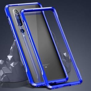 Voor Xiaomi Mi 10 Pro 5G Schokbestendig Ultra-dun metalen beschermframe(Blauw)