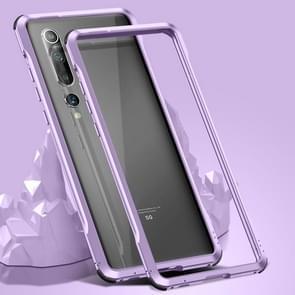Voor Xiaomi Mi 10 Pro 5G Schokbestendig Ultra-dun metalen beschermframe(Paars)