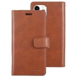 Voor iPhone 11 Pro Max MERCURY GOOSPERY MANSOOR horizontale Flip lederen draagtas met houder & kaartsleuven & portemonnee (bruin)