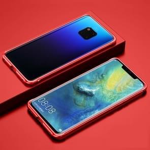 Voor Huawei Mate 20 Pro Schokbestendig Ultra-dun metalen beschermframe(rood)