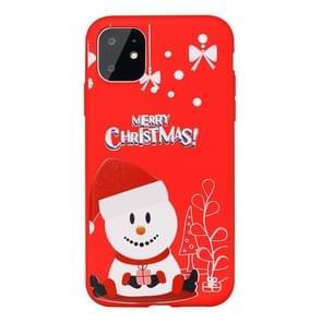 Voor iPhone 11 Dazzle Kerst patroon beschermende case (hoed sneeuwpop)