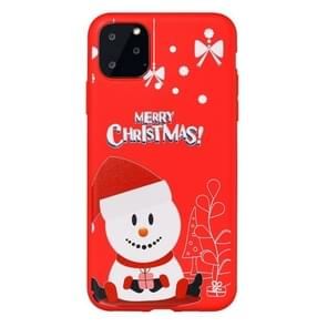 For iPhone 11 Pro Max Dazzle Christmas Pattern Protective Case(Hat Snowman)