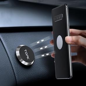TOPK D21 Auto mobiele telefoon houder magnetische universele in-car telefoonhouder stand (Zilver)