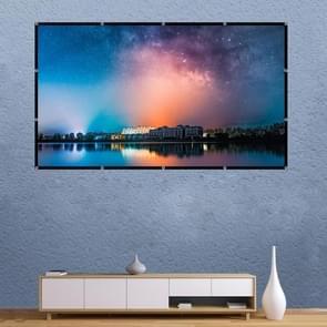 Vouwen melk zijde polyester projector filmgordijn  grootte: 100 inch (16:9) Projectiegebied: 221 x 125cm