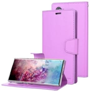 For Galaxy Note 10+ MERCURY GOOSPERY SONATA DIARY Horizontal Flip Leather Case  with Holder & Card Slots & Wallet(Purple)