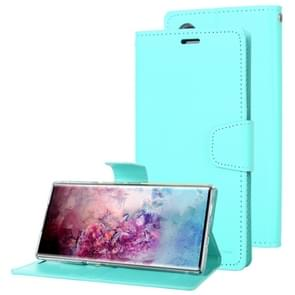 For Galaxy Note 10 MERCURY GOOSPERY SONATA DIARY Horizontal Flip Leather Case  with Holder & Card Slots & Wallet(Mint Green)