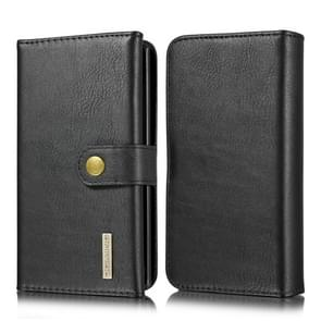 For Galaxy Note 10 DG.MING Triple Fold Crazy Horse Texture Magnetic Horizontal Flip Leather Case with Holder & Card Slots & Wallet(Black)