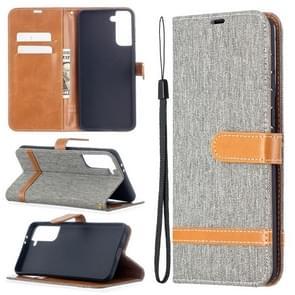 Voor Samsung Galaxy S30 Plus Kleur Bijpassende Denim Textuur Horizontale Flip Lederen case met Holder & Card Slots & Wallet & Lanyard(Grijs)