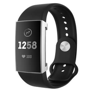 Voor Fitbit charge 3 volledige dekking plating TPU horloge case (zilver)