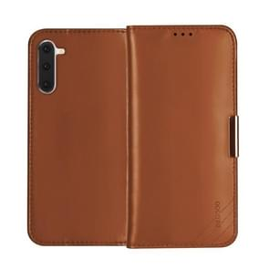 For Galaxy Note 10 DZGOGO ROYALE II Series Magnetic Horizontal Flip Genuine Leather Case with Card Slots & Holder(Brown)