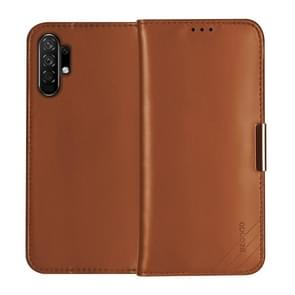 For Galaxy Note 10+ DZGOGO ROYALE II Series Magnetic Horizontal Flip Genuine Leather Case with Card Slots & Holder(Brown)