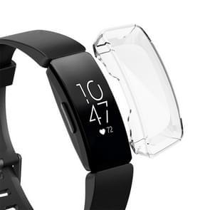 Voor Fitbit Inspire/Inspire HR volledige dekking plating TPU horloge case (transparant)
