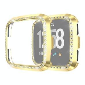 Voor Fitbit versa/versa Lite Universal Smart Watch PC Diamond beschermende case (goud)