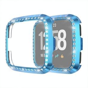Voor Fitbit versa/versa Lite Universal Smart Watch PC Diamond beschermende case (blauw)