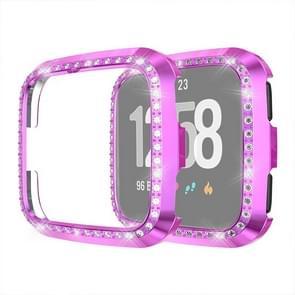 Voor Fitbit versa/versa Lite Universal Smart Watch PC Diamond beschermende case (paars)