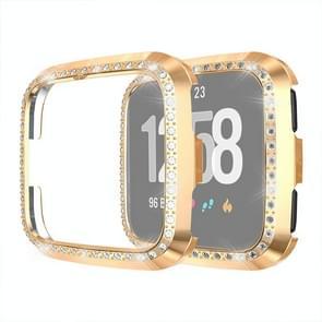 Voor Fitbit versa/versa Lite Universal Smart Watch PC Diamond beschermende case (Champagne goud)