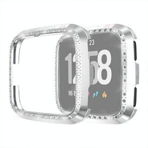 For Fitbit Versa / Versa Lite Universal Smart Watch PC Diamond Protective Case(Silver)