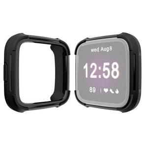 For Fitbit Versa / Versa Lite Universal Smart Watch PC + TPU Protective Case(Black Black)