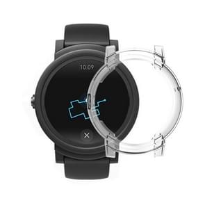 For Tic Watch E Smart Watch TPU Protective Case(Transparent)