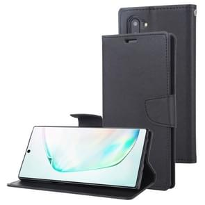 For Galaxy Note 10 MERCURY GOOSPERY FANCY DIARY Horizontal Flip Leather Case with Holder & Card Slots & Wallet(Black)