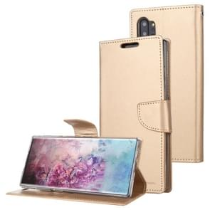 For Galaxy Note 10+ MERCURY GOOSPERY BRAVO Series Crazy Horse Texture Horizontal Flip Leather Case with Holder & Card Slots & Wallet((Gold)