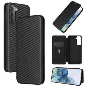 Voor Samsung Galaxy S30 Plus Carbon Fiber Textuur Magnetische horizontale flip TPU + PC + PU lederen hoes met kaartsleuf(zwart)