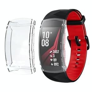 Voor Samsung Gear fit 2 Pro volledige dekking plating TPU horloge case (transparant)