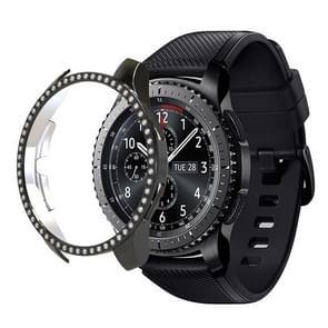 For Samsung Watch 46mm PC Diamond Watch Case(Black)
