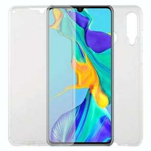 For Huawei P30 Lite TPU + Acrylic Ultra-Thin Double-Sided All-Inclusive Transparent Mobile Phone Case