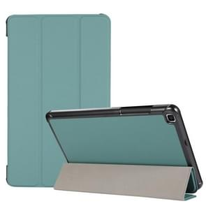 3-voudige huidtextuur horizontale flip TPU + PU lederen hoesje met houder voor Samsung Galaxy Tab A 8.0 (2019) T290 / T295 (groen)