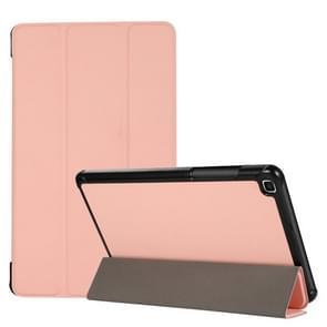 3-voudige huidtextuur horizontale flip TPU + PU lederen hoesje met houder voor Samsung Galaxy Tab A 8.0 (2019) T290 / T295 (roze)