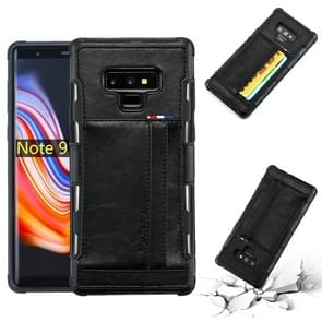 For Galaxy Note 9 PU + TPU Shockproof Protective Leather Case with Card Slots(Black)