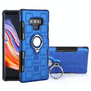 For Galaxy Note 9 2 In 1 Cube PC + TPU Protective Case with 360 Degrees Rotate Silver Ring Holder(Blue)