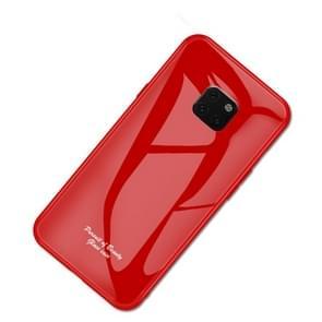 For Huawei Mate 20 Pro Macaron Glass + TPU Case(Red)