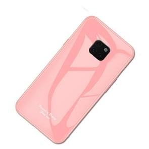 For Huawei Mate 20 Pro Macaron Glass + TPU Case(Pink)
