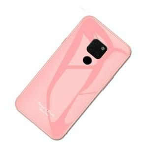 For Huawei Mate 20 Macaron Glass + TPU Case(Pink)