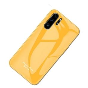 For Huawei P30 Pro Macaron Glass + TPU Case(Yellow)