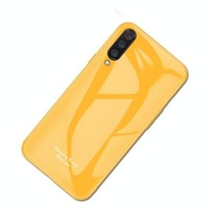 For Xiaomi Mi 9 Macaron Glass + TPU Case(Yellow)
