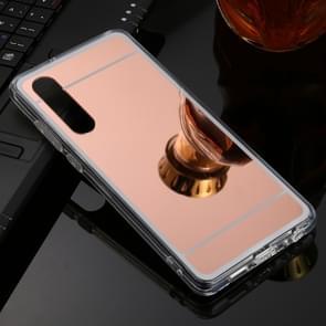Voor Huawei P30 TPU + acryl luxe plating spiegel telefoon gevaldekking (Rose goud)