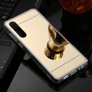 Voor Huawei P30 TPU + acryl luxe plating spiegel telefoon gevaldekking (goud)