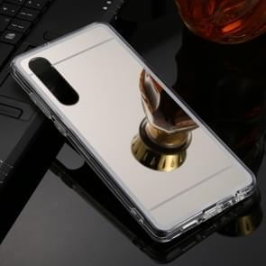 For Huawei P30 TPU + Acrylic Luxury Plating Mirror Phone Case Cover(Silver)