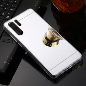 For Huawei P30 Pro TPU + Acrylic Luxury Plating Mirror Phone Case Cover(Silver)