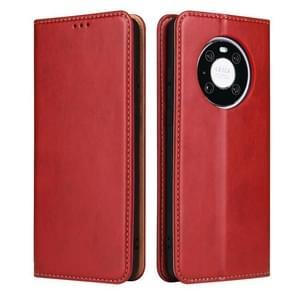 Voor Huawei Mate 40 Fierre Shann PU Genuine Leather Texture Horizontale Flip Lederen kast met Holder & Card Slots & Wallet(Red)