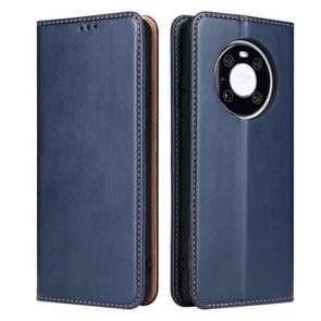 Voor Huawei Mate 40 Fierre Shann PU Genuine Leather Texture Horizontale Flip Lederen kast met Holder & Card Slots & Wallet(Blauw)