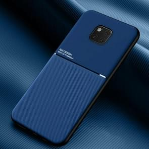 Voor Huawei Mate 20 Pro Classic Tilt Strip Grain Magnetic Shockproof PC + TPU Case(Blauw)